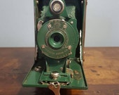 Green Kodak Rainbow Hawk-Eye No.2 Folding Model B (1930-34)