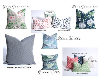 14x36 Floral Pillow cover / 14x36 Grey Navy Pillow / Long Lumbar pillow cover / 14x36 green pillow / 14x36 Pottery Pillow cover-4E9H