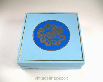 Vintage Max Factor Aquarius Perfume Toiletry Storage Box, 1970s