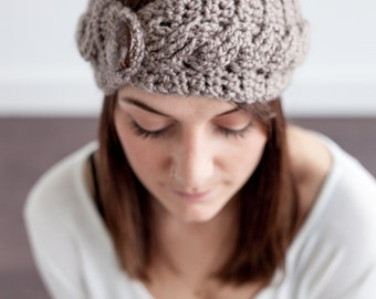 Crochet Pattern Cables Headband PDF: The Kristina Headband