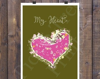 My Guarded Barbwire Heart Print