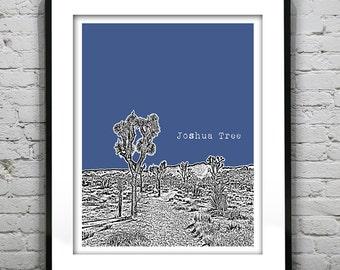Joshua Tree Poster Art Print version 1
