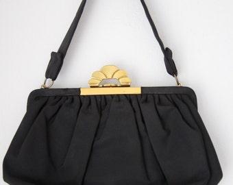 1940s Vintage POUCH rayon-silk purse