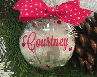 Archery Girl Archer Ornament, Personalized, Monogrammed