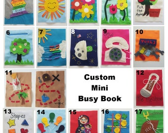 Mini Quiet Book- 10 pages