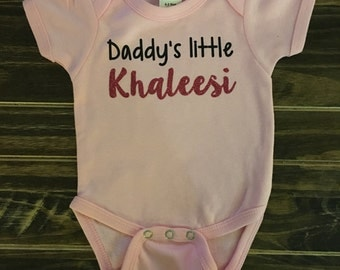 Game of Thrones, Daddy's little Khaleesi Onesie, creeper, bodysuit, personalized gift
