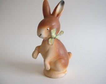 Vintage Paper Mache Easter Bunny Brown