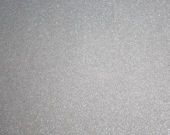 Glitter Vinyl Canvas Fabric - Silver
