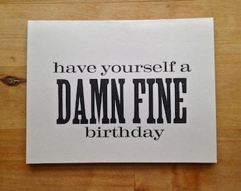 Letterpress birthday card – Twin Peaks