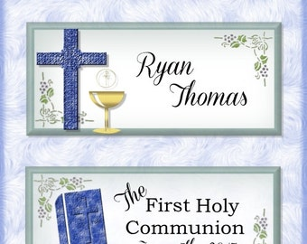 First Holy Communion Wrappers, Personalized Candy Bar Wrappers, Party Favors, Chocolate Wrapper, Hershey Bar Wrappers