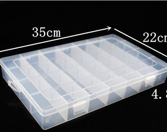 28 sectioned plastic container with lid perfect for storage of your small craft items