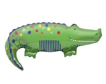 """Jumbo 36"""" Preppy Alligator Balloon, Helium Quality"""