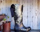 Monogram Rain Boots with Bows, Camo Rain Boots with Bows, Custom rainboots, Camo Boots