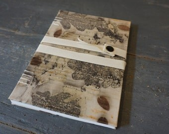 Botanical # 1-Coptic fabric Journal M.Y. Garden