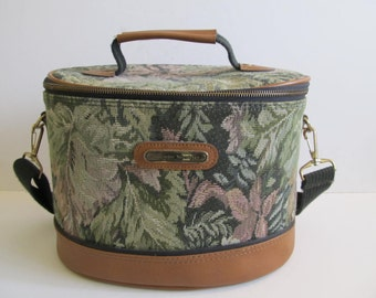 American Tourister Luggage, Train Case, American Tourister, American Tourister Train Case, Vintage Train Case, Vintage Luggage, Tapestry Bag