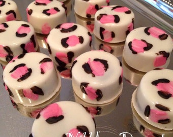 24 MINI Leopard Print Chocolate Covered OREOS, cookies, Cheetah print, party favors