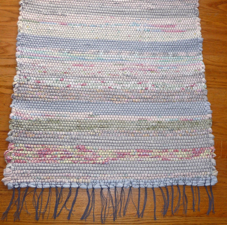 Rag Rug Large: Loom Woven 24 X 70 Rectangular Rag Rug By GenerationsRugs