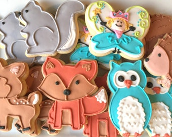 Woodland animals/Forest Fairies/one dozen/baby shower