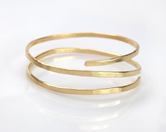 Upper Arm Band Cuff Bracelet, Hammered Arm Cuff