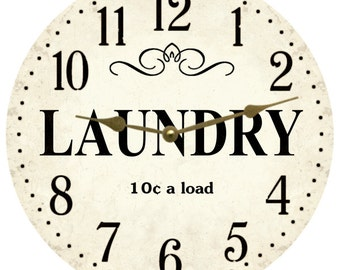 Laundry Clock- Laundry Room Clock