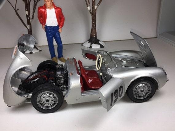 porsche 550 spyder james dean 118 diecast car model car metal car