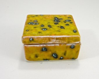ceramic square box , jewellery box ,Trinket box