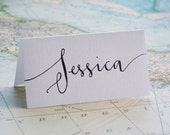 ORDER FOR TIFFANY - Custom Calligraphy Place Cards - Handwritten - Wedding