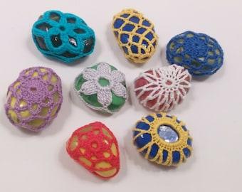 Crochet lace stone – glass stone