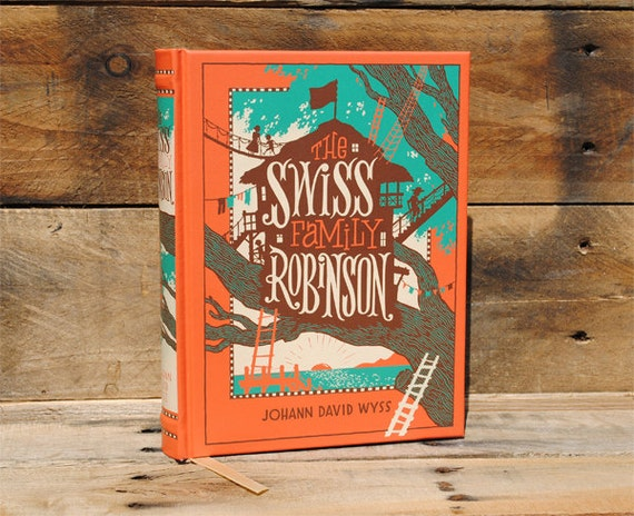 Book Safe - The Swiss Family Robinson - Leather Bound Hollow Book Safe