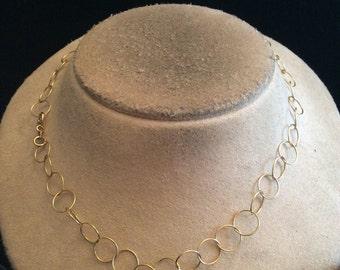 Vintage Sterling Silver Linked Necklace