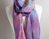 Silk Scarf - Hand dyed Si...