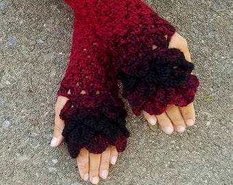 Fingerless Dragon Scales Gloves *PATTERN*