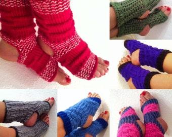 Knit toeless socks Etsy
