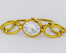 1050s Double Rolled Gold Ladies Watch by Rody Winnerberger Manual Wind  Bracelet Oval Wristwatch