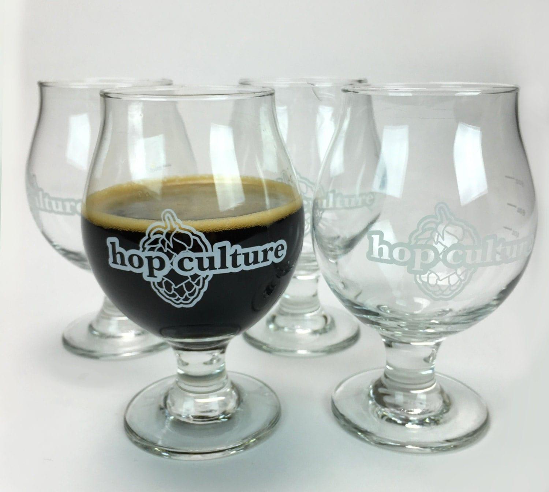 craft beer glass set of 4 hop culture the share. Black Bedroom Furniture Sets. Home Design Ideas