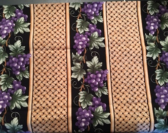Grapes fabric - wine grape fabric