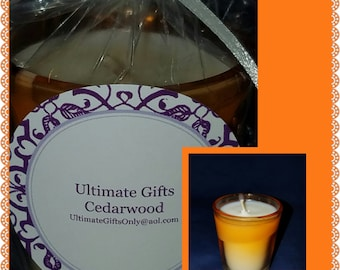 "Handmade ""Cedarwood"" Scented Soy Candle"