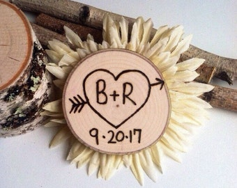 50 Rustic wedding wood slice favors