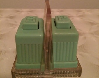 Vintage Art Deco style salt and pepper shakers