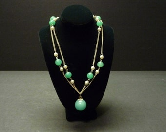 50% OFF - Exceptionally beautiful ~ Sea Green Necklace and Earrings Set
