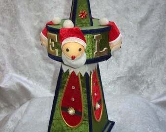 Circa 1960'S Schmid Brothers MUSICAL Christmas Holiday SANTA TREE Tabletop Decoration