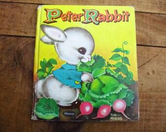 Vintage 1959 Peter Rabbit Tell-A-Tale Book - Peter Rabbit Children's Book