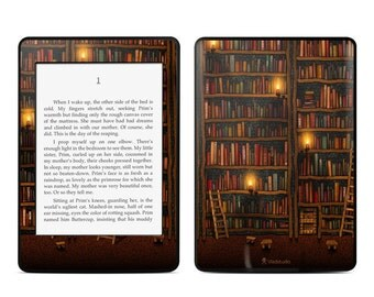 Amazon Kindle Skin - Library by Vlad Studio - Sticker Decal - Fits Paperwhite, Fire, Voyage, Touch, Oasis