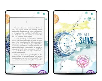 Amazon Kindle Skin - Shine On by True Spirit Art - Sticker Decal - Fits Paperwhite, Fire, Voyage, Touch, Oasis