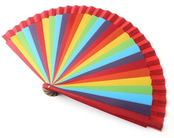 Hand Fans, hand fan, abanico,  stripes colorful