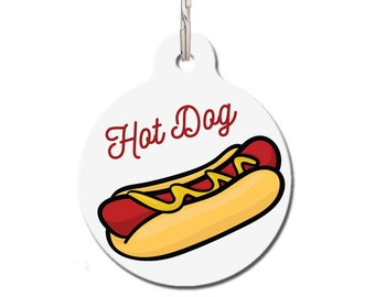 Funny Pet Tag - Hot Dog Dog Tag | FREE Personalization