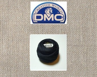 DMC Pearl Cotton Ball - Size 5 - Black 310 - 49 Yards