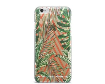 Tropical iPhone 7 case, clear iPhone 6 case, clear iPhone 6s case, clear iPhone 7 case, iPhone 6 clear case, iPhone 6s clear case