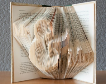 Wedding Gifts For Art Lovers : Mr & Mrs Folded Book Art- Wedding Gifts for the Couple - Book Lovers ...
