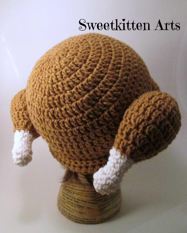 Pdf instant download cooked turkey hat crochet pattern newborn zoom bankloansurffo Gallery